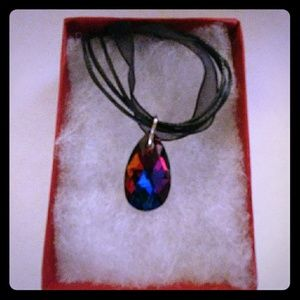 Jewelry - Sangria Red Crystal Teardrop Necklace